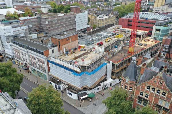 Hybrid design transforming the site of famous London department store