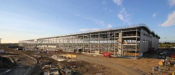 Steel rises on new Yorkshire distribution centre