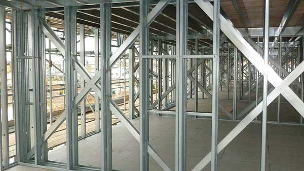 Fire resistance of light steel framing
