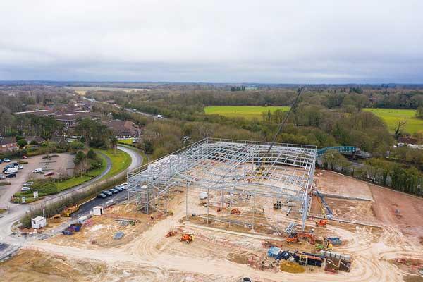 Steelwork underway at St. Modwen Park Basingstoke