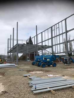 Steelwork aids storage expansion