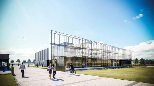 Exposed frame creates landmark research facility