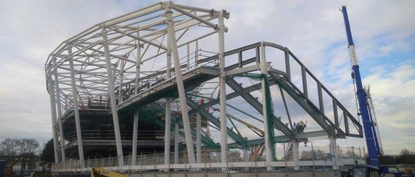 Steelwork completes on Commonwealth Games stadium