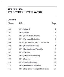 Highways England updates Series 1800, Structural Steelwork Specification