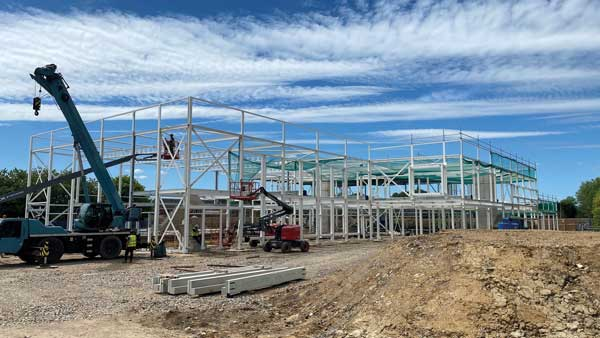 Steel scores for Wiltshire leisure facility