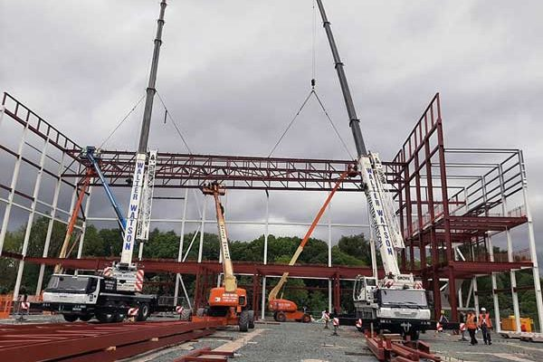 Steel rises for Dunbartonshire leisure and care hub