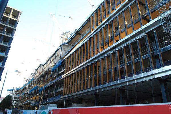 Steel landscraper taking shape in King's Cross