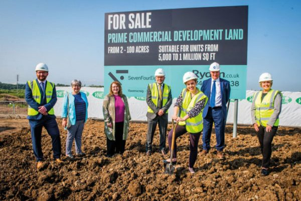 Commercial scheme kicks off at former steelworks site